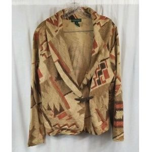 Ralph Lauren Southwestern Aztec Light Jacket L